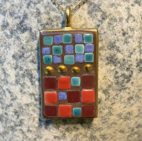 Cold Dichroic Hot in Mosaic Jewelry at Windy Sea Designs
