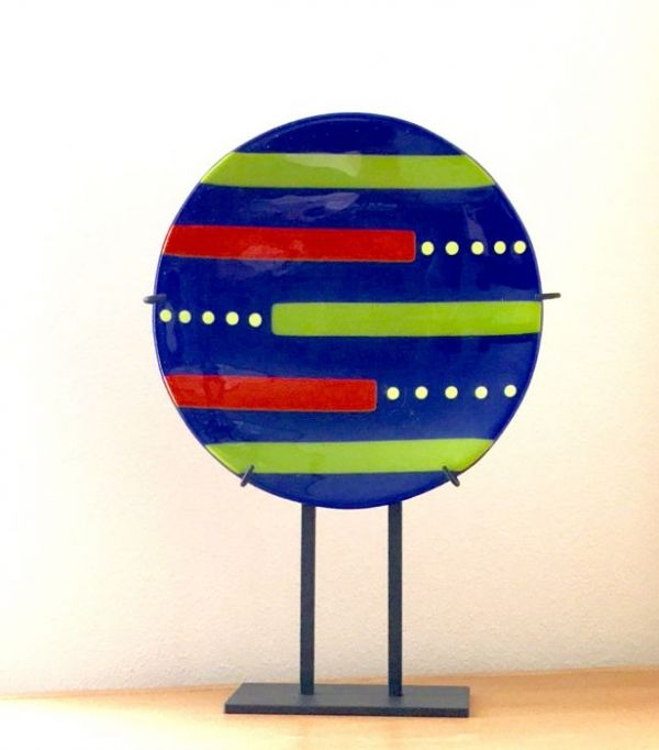 Cobalt Bowl in Fused Glass at Windy Sea Designs