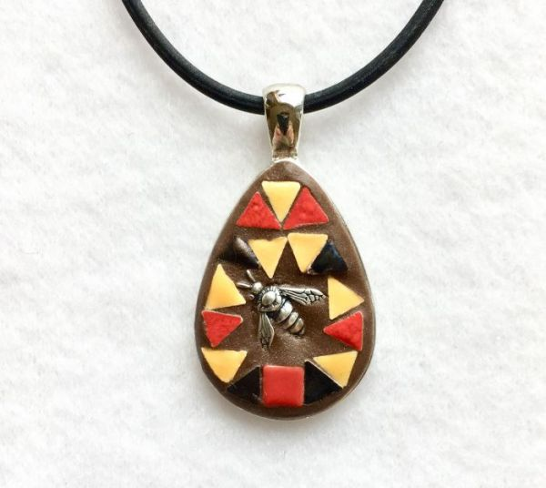 Bumblebee in Mosaic Jewelry at Windy Sea Designs