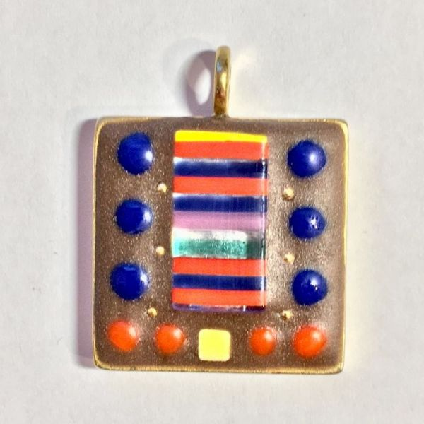 Mini Band of Red and Blue in Mosaic Jewelry at Windy Sea Designs