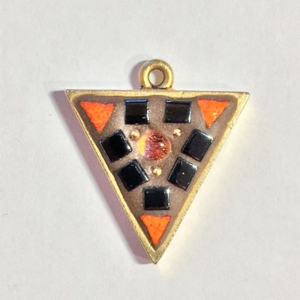 Black and Orange in Mosaic Jewelry at Windy Sea Designs