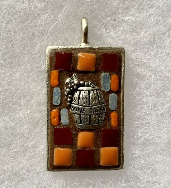 Wine Barrel Mosaic Pendant in Mosaic Jewelry at Windy Sea Designs